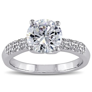 M by Miadora Sterling Silver Prong-set Clear Cubic Zirconia Engagement-style Ring