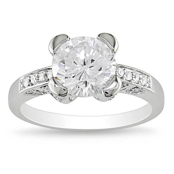 M by Miadora Sterling Silver Clear Cubic Zirconia Engagement-style Ring
