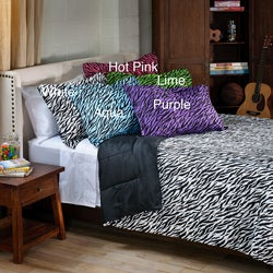 Zebra 3-piece Full/ Queen-size Mini Comforter Set