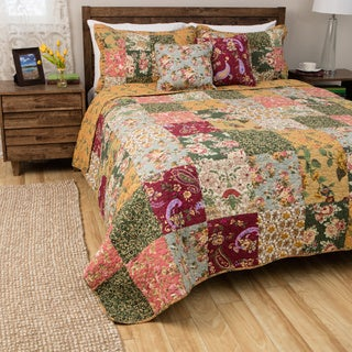 Greenland Home Fashions Antique Chic Full/ Queen-size 3-piece Quilt Set