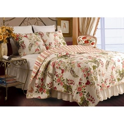 Butterflies 3-Piece Full/ Queen-size Quilt Set