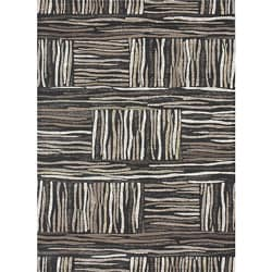 "Crystalline Charcoal Geometric Area Rug (3'10"" x 5'7"")"