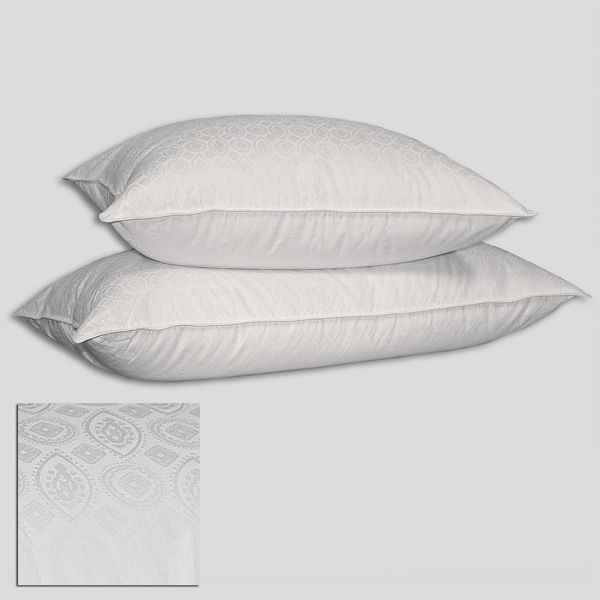 European 510 Thread Count Jacquard Medallion Down Pillow