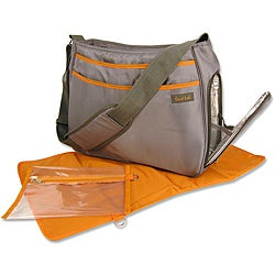 Trend Lab Grey and Orange Ultimate Diaper Bag