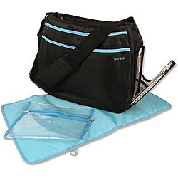 Trend Lab Black and Turquoise Ultimate Diaper Bag