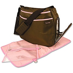 Trend Lab Brown and Pink Ultimate Diaper Bag