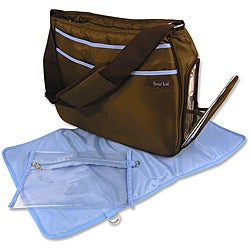 Trend Lab Brown and Blue Ultimate Diaper Bag