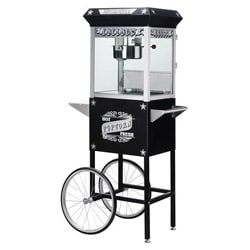 Paducah 6035 Black 8-oz Antique Popcorn Machine and Cart