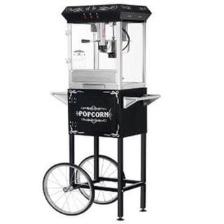 Black 6096 8-oz Foundation Popcorn Machine and Cart