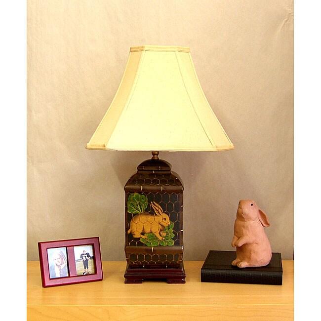 Porcelain Rabbit 1-light Table Lamp