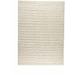Hand-knotted Veni White Wool Rug (5'6 x 7'10)