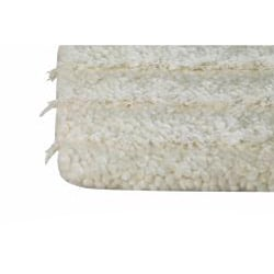 Hand-knotted Veni White Wool Rug (6'6 x 9'9)