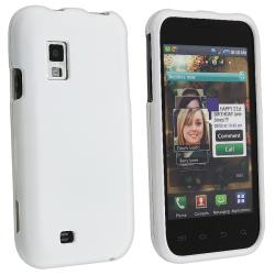 White Rubber Coated Case for Samsung Fascinate/ Galaxy S