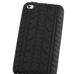 Black Tire Tread Silicone Case for Apple iPod Touch 4