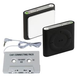 Black Case/ Car Audio Cassette Adapter for Apple iPod Shuffle 4