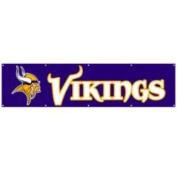 Minnesota Vikings 8-foot Nylon Banner