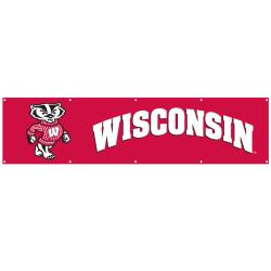 Wisconsin Badgers 8-foot Nylon Banner