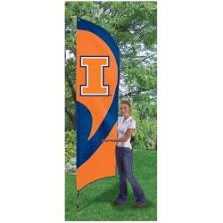 Illinois Fighting Illini Tall Nylon Team Flag
