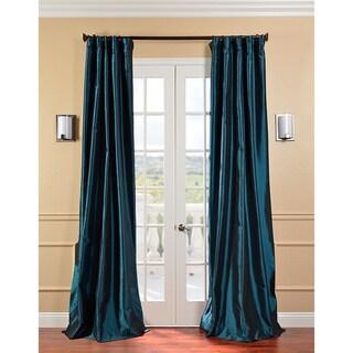 Solid Faux Silk Taffeta Mediterranean Curtain Panel
