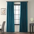 Solid Faux Silk Taffeta Mediterranean 96-inch Curtain Panel