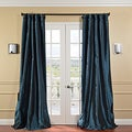 Solid Faux Silk Taffeta Mediterranean 108-inch Curtain Panel