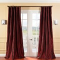 Solid Faux Silk Taffeta Syrah Curtain Panel