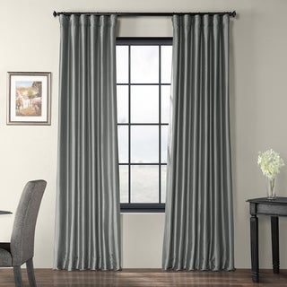 Solid Faux Silk Taffeta Platinum 108-inch Curtain Panel