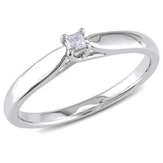 M by Miadora Sterling Silver Diamond Accent Solitaire Promise Ring