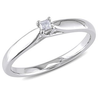M by Miadora Sterling Silver Diamond Accent Solitaire Ring