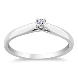 Miadora Sterling Silver Diamond Accent Solitaire Ring