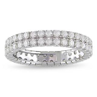 SHIRA 14k White Gold 1ct TDW Diamond Double Row Eternity Ring (G-H, I1-I2)