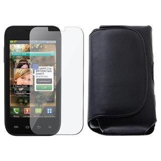 Leather Case with Screen Protector for Samsung Fascinate/ Galaxy S