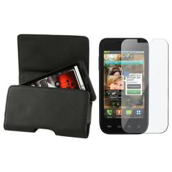 Leather Case with Magnetic Flap/ Screen Protector for Samsung Fascinate