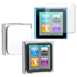 Clear Snap-on Crystal Case/ Screen Protector for Apple iPod Nano 6