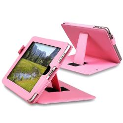 Pink Leather Case for Apple iPad