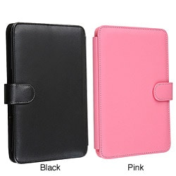 Black Leather Case for Amazon Kindle 3