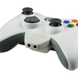 White Headset Converter Adapter for Microsoft Xbox 360