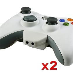 White Headset Converter Adapter for Microsoft Xbox 360 (Pack of 2)