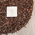 Handmade Metro Saddle Leather Shag Rug (4' Round)