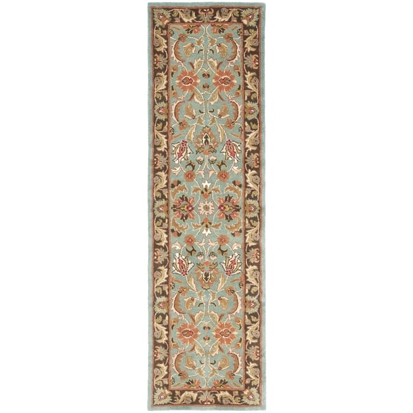 Safavieh Handmade Heritage Blue/Brown Wool Area Runner Rug (2'3 x 8')