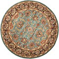 Safavieh Handmade Heritage Blue/ Brown Wool Rug (3'6 Round)