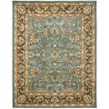 Handmade Heritage Blue/ Brown Wool Rug (12' x 18')