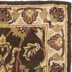 Handmade Heritage Treasure Brown/ Ivory Wool Rug (2' x 3')
