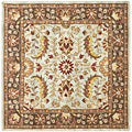 Safavieh Handmade Heritage Blue/ Brown Wool Rug (6' Square)