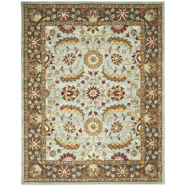 Safavieh Handmade Heritage Blue/ Brown Wool Rug (7'6 x 9'6)