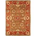 Safavieh Handmade Heritage Beige/ Rust Wool Rug (2' x 3')