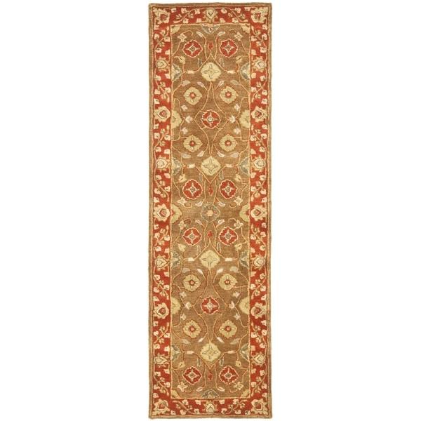 Safavieh Handmade Heritage Beige/ Rust Wool Runner (2'3 x 8')