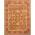 Safavieh Handmade Heritage Beige/ Rust Wool Rug (4' x 6')