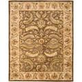 Safavieh Handmade Heritage Green/ Beige Wool Rug (5' x 8')