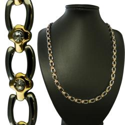 Goldtone and Silvertone Magnetic Horseshoe Necklace
